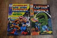 Captain America #121 #122 (Marvel Comics, 1970) Lot of 2