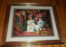 "Large Home Interiors 28""X23"" Picture Victorian Elegant Floral Dolls Di Giacomo"