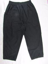 "Women's Adar Uniform Scrub Pants black Inseam 28"" Size XXXL"