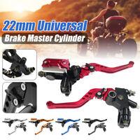 """7/8"""" universal moto frein embrayage levier maitre cylindre réservoir 12,7 mm !"""