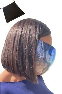 Tinted Face Mask Visor with Storage Pouch - 4 Colours. Anti-Fog Face Shield.