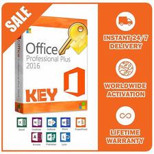 MICROSOFT OFFICE 2016 PROFESSIONAL PLUS LIFETIME PRO PRODUCT KEY (1PC) +DOWNLOAD