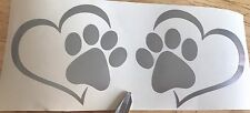X2 Love My Pet Paw Print Vinyl Decal Car Sticker Animal Dog Pet Window