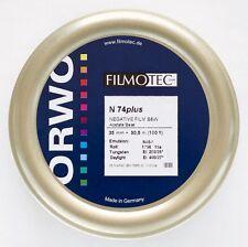 1x bulk roll ORWO N74 Plus 35 mm x 30.5 Meter (100ft) B&W Negative film ISO 400