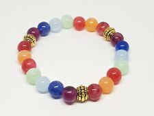 Cats Eye 7 Chakra Bracelet Healing Beads Balance Yoga Meditation Reiki Anxiety