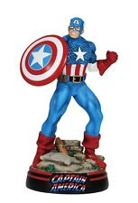 8in Marvel Comics Resin Figurine Captain America Large, New