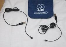 Lot Of Two AKG  Miniature Omni-Directional Lapel Microphones !
