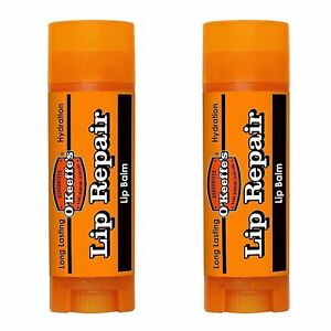 OKeeffes Lip Repair Stick 4.2g - Lip Balm - Unscented CRACKED CHAPPED LIPS x 2