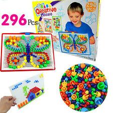 Mosaico hongo 296 un. Enchufe granos Rompecabezas Creativo Juego Juguete para Niños