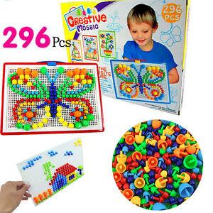 Mosaic Mushroom 296pcs  Plug Beads Puzzle Creative Game toy for Kids