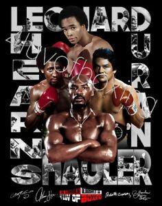 Fabulous Four Boxing Poster 24x36 4LUVofBOXING BK Duran Hagler SRL Hearns