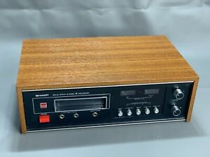 1970s Sharp RT-811E Solid State 8 Track Recorder Rare Vintage -- WORKING!