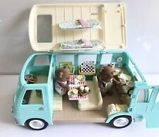 Sylvanian Families Campervan with Dressed Bears and Accessories