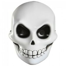 GRIM REAPER SKELETON FACE MASK SCARY ADULT HALLOWEEN COSTUME ACCESSORY