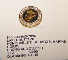 USMC United States Marine Corps Honorable Discharge HAT Lapel Jacket Pin Button