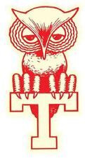 Temple   University   Owls  Vintage Looking  Travel Decal  Sticker