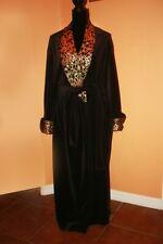 NATORI classics,women robe,black ,velur,long,new