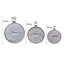 assorted sizes 30mm 25mm 20mm Round blank bezel frame Base Tray Charm Pendant