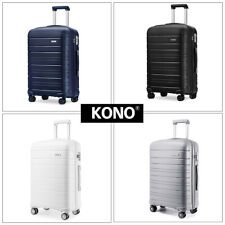 KONO Multi Texture Trolley Travel Case Hand Cabin Luggage Hard Shell PP Suitcase