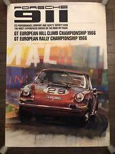 original Porsche 911 GT European Hill Cimb / Rally Champion 1966 Poster Plakat