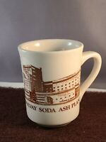 Vintage Solvay Soda Ash Plant Coffee Cup Syracuse China Glass Advertising