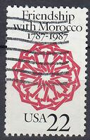 USA Briefmarke gestempelt 22c Friendship with Morocco 1787 - 1987 / 566