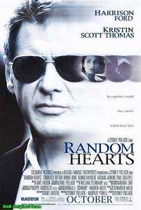 "MOVIE POSTER~Random Hearts 1999 Double Sided D/S Original 27x40"" One Sheet New~"