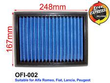 High-Flow Simota Air Filter for Alfa Romeo, Fiat, Lancia, Peugeot, OFI-002