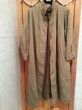 Vintage Sanyo Fashion Made In Japan Sand Color Cotton & Wool Trench-coat Size 8