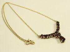 Granat Collier COLLANA ORO 585er 14kt. Garnet Necklace GRENAT or RODEO ORO