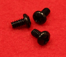 "50 fancy Black zinc plated hard drive screws 6-32 x 1/4"" with Phillips pan head"