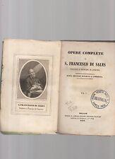 opere complete di san francesco di sales - volume primo -septvenutcs