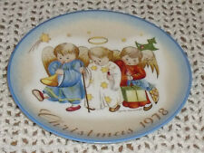 "Schmid B Hummel Christmas Heavenly Trio 7.5"" Plate No Box 1978"