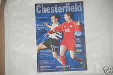 Chesterfield v Reading Programme 16th Mar 2002