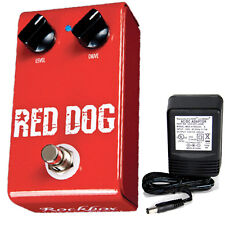 Rockbox Electronics Red Dog Overdrive pedal w/ 9v power supply free shipping!