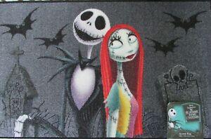 "Nightmare Before Christmas Jack & Sally Halloween Accent Rug 20""x32"" Disney NWT"