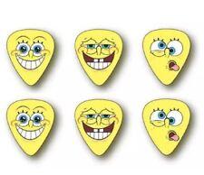 6 Spongebob Guitar Picks Light Gauge Dunlop Plectrum Yellow
