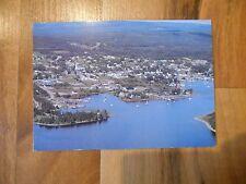 Old Vintage Photo Postcard Aerial Baddeck Bras d'Or Lakes Cape Breton NS Canada