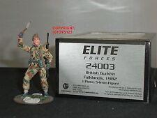 Britains 24003 elite de las fuerzas británicas Gurkha Guerra de las Malvinas 1982 Metal Soldado de juguete