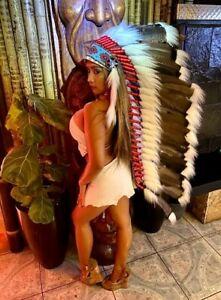 Indian Headdress War Bonnet Halloween AUTHENTIC COLLECTION Little Big Horn