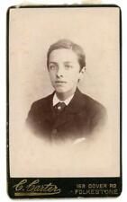 Young Gentleman on cdv by C Carter of Folkestone
