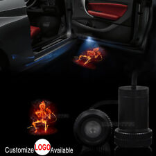 2x Fire Skull Music Rock Logo Car Door LED Laser Projector Ghost Shadow Light