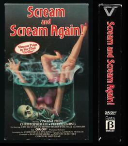 Vestron Betamax NOT VHS Scream and Scream Again 1970 Vincent Price Horror Gothic
