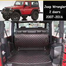 Cargo Trunk Boot Liner Mat Carpet For Jeep Wrangler 2 Doors 2007-2016 Waterproof