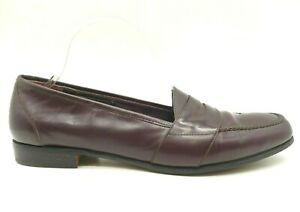 Bragano Cortina Cole Haan Burgundy Leather Penny Loafers Shoes Women's 9 D