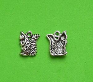 20x 3D Squirrel Woodland Garden Furry Animal Forest Tibetan Silver Charm Pendant