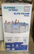 New listing Summer Waves 14ft Elite Frame Pool with Filter Pump, Cover & Ladder