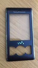 Genuine Original Sony Ericsson W595 Front Cover Fascia Housing Blue