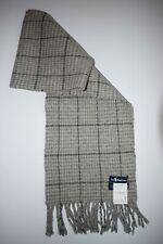 POLO RALPH LAUREN UNISEX  GRAY WINTER VINTAGE CHECK GOOD SCARF