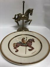 Carousel Memories Willitts Plate Limited Edit.1987 Japan + Carousel Heavy Brass